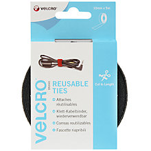 Buy VELCRO® Brand Self Gripping Ties, Black Online at johnlewis.com