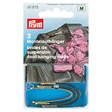 Buy Prym Coat Hanging Loops, Assorted Colours, Pack of 3 Online at johnlewis.com