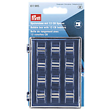 Buy Prym Bobbin Box with 12 x CB Metal Bobbins Online at johnlewis.com