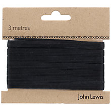 Buy John Lewis 8 Corded Elastic, Black Online at johnlewis.com