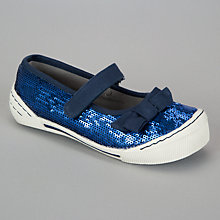 Buy John Lewis Girl Lynn Sequin Shoes, Navy Online at johnlewis.com