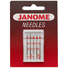 Buy Janome Quilting Needles, Assorted Sizes, Pack of 5 Online at johnlewis.com