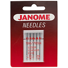 Buy Janome Leather Needles, Pack of 5 Online at johnlewis.com
