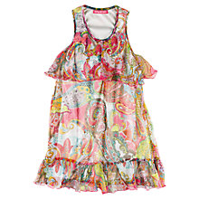 Buy Derhy Kids Paisley Tiered Dress, Fuchsia Online at johnlewis.com