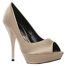 Buy KG by Kurt Geiger January Platform Stiletto Peep Toe Court Shoes, Nude Online at johnlewis.com