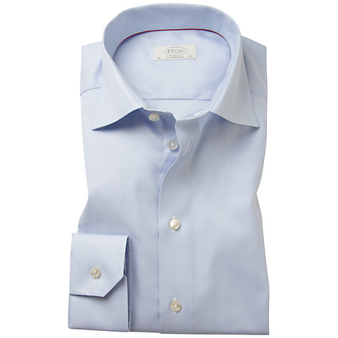 Buy Eton Non-Iron Herringbone Shirt Online at johnlewis.com