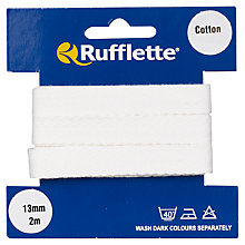 Buy Rufflette Cotton Webbing, 2m, White Online at johnlewis.com