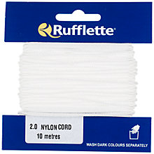 Buy Rufflette Nylon Cord, 10m, White Online at johnlewis.com