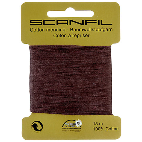 Buy Scanfil Mending Cotton, Brown Online at johnlewis.com