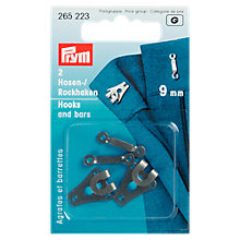 Buy Prym Trouser Small Hook and Bar, 9mm, Black Online at johnlewis.com