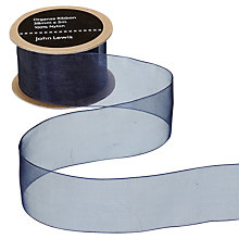 Buy John Lewis Organza Ribbon, 38mm, Navy Online at johnlewis.com