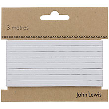 Buy John Lewis 8 Corded Elastic, White Online at johnlewis.com