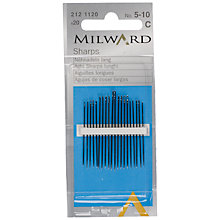 Buy Milward Sharps Sewing Needles, Sizes 5-10, Pack of 10 Online at johnlewis.com