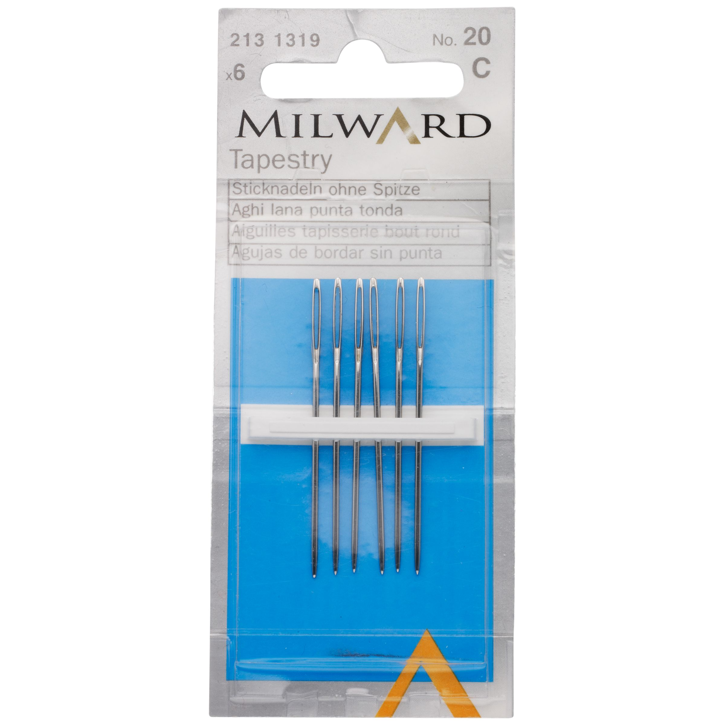 Milward Milward Tapestry Needles, Size 20, Pack of 6