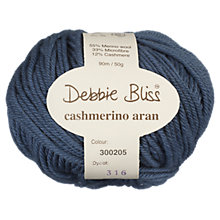 Buy Debbie Bliss Cashmerino Aran Yarn, 50g Online at johnlewis.com