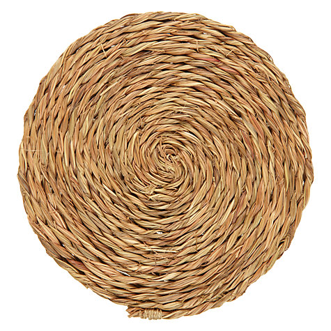 Buy Gone Rural Woven Grass Coasters, Set of 4, Smoke Online at johnlewis.com