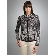 Buy Betty Barclay Lace Printed Knitted Jacket, Black/Cream Online at johnlewis.com