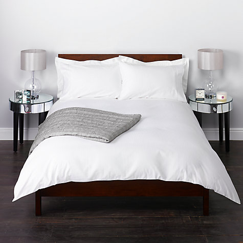 Buy John Lewis Satin Stripe 400 Thread Count Bedding Online at johnlewis.com