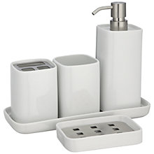 Buy House by John Lewis Bento Porcelain Bathroom Accessories Online at johnlewis.com