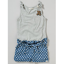 Buy Scotch R'belle Spot Playsuit, Grey/Blue Online at johnlewis.com