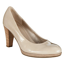 Buy Gabor Soria Patent Court Shoes, Beige Online at johnlewis.com