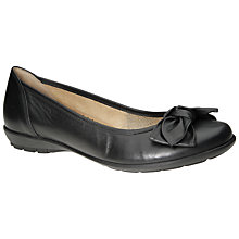 Buy Gabor Glitz Classic Bow Pumps, Black Online at johnlewis.com