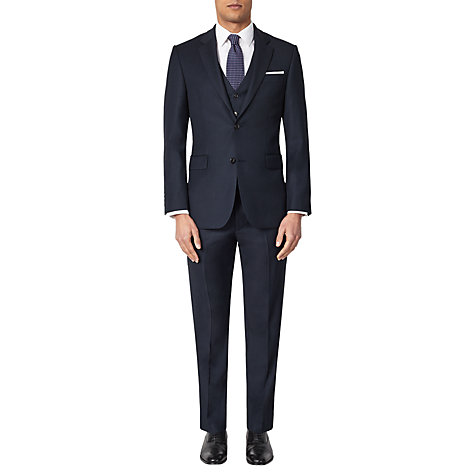 Buy John Lewis Birdseye Suit Jacket, Navy Online at johnlewis.com