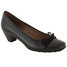 Buy Gabor Sonia Patent Court Shoe, Black Online at johnlewis.com