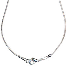 "Buy John Lewis Snake Chain, 16"", Silver Plated Online at johnlewis.com"