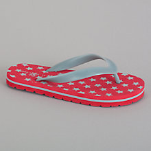 Buy John Lewis Boy Star Print Flip Flops, Red Online at johnlewis.com