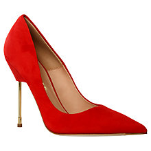 Buy Kurt Geiger Elliot Pointed Toe Heels, Red Online at johnlewis.com