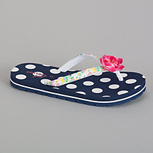 Buy John Lewis Girl Polka Dot Flip Flops, Navy Online at johnlewis.com