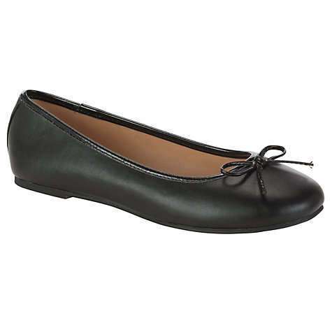 Buy John Lewis Gino Ballerina Pumps, Black Online at johnlewis.com