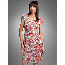 Buy Betty Barclay Floral Print Dress, Pink/Blue Online at johnlewis.com