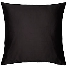 Buy John Lewis Knife Edge Silk Cushion, Black Online at johnlewis.com