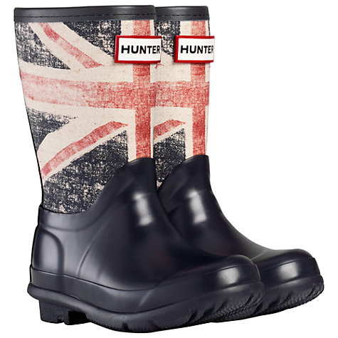 Buy Hunter Original Kids' Brit Wellington Boots, Multi Online at johnlewis.com