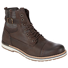 Buy Dune Sage Buckle Boots, Brown Online at johnlewis.com