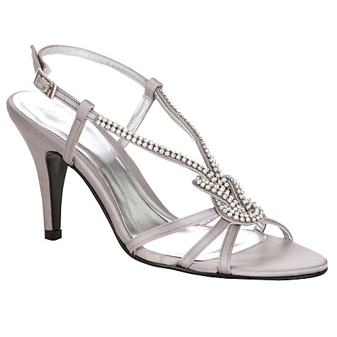 Buy John Lewis Citrine Studded Slingback Sandals, Silver Online at johnlewis.com