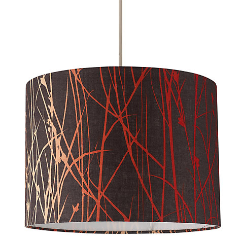 Buy Clarissa Hulse Grasses Linen Drum Shade, Red / Brown Online at johnlewis.com