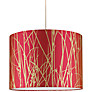 Buy Clarissa Hulse Grasses Drum Shade, Pink / Gold Online at johnlewis.com