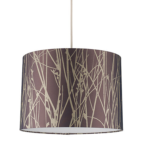 Buy Clarissa Hulse Grasses Drum Shade, Purple / Silver Online at johnlewis.com