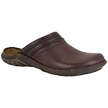 Buy Josef Seibel Logan Leather Clogs, Brown Online at johnlewis.com