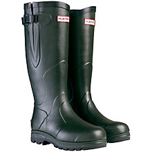 Buy Hunter Balmoral Classic Wellington Boots, Dark Olive Online at johnlewis.com