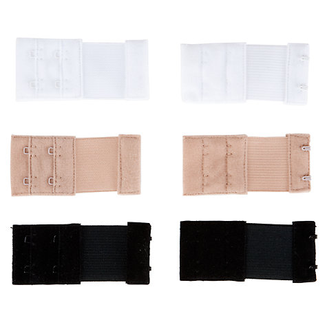 Buy Lingerie Solutions 3 Pack 2 Hook Bra Extenders, Multi Online at johnlewis.com