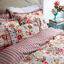 Buy PiP Studio Flowers In Mix Duvet Cover Set, Khaki Online at johnlewis.com