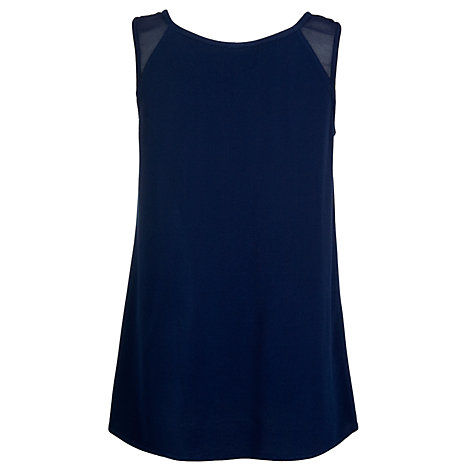 Buy Ghost Belle Crepe Vest Top, Navy Online at johnlewis.com