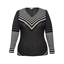 Buy Chesca Jersey Stripe Top, Grey Online at johnlewis.com