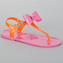 Buy John Lewis Girl Bright Bow Jelly Sandals, Pink Online at johnlewis.com
