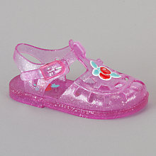 Buy John Lewis Girl Cherry Jelly Sandals, Pink Online at johnlewis.com