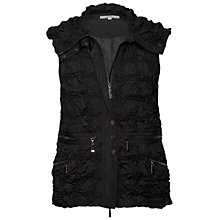 Buy Chesca Zipped Embroidered Gilet, Black Online at johnlewis.com